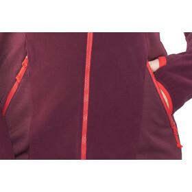 Bergans Cecilie Fleece Jacket Damen dark cherry/strawberry